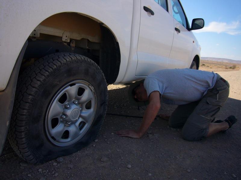 Reifenwechsel unter extremen Bedingungen