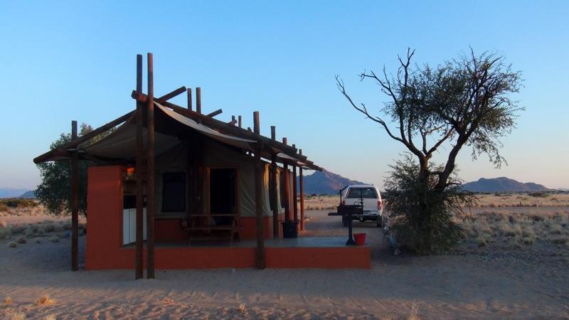 Unsere Hütte im Desert Camp