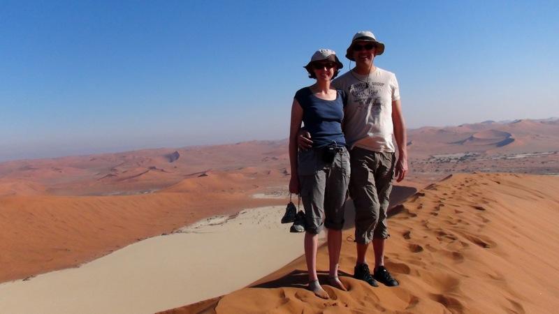 """Auf dem """"Dach"""" der Namib"""